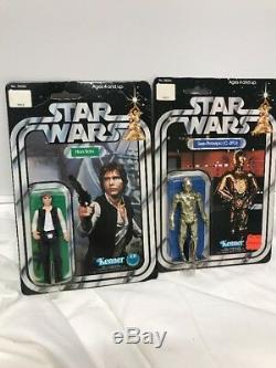 Vintage Kenner Star Wars 1978 Complete Set Of 12-Backs Luke-Han Solo-Leia- Vader