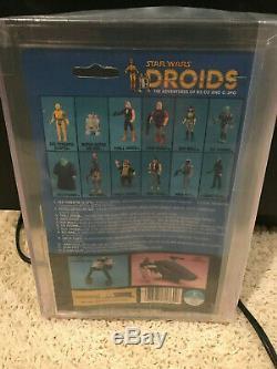 Vintage Kenner Star Wars 1985 Droids Boba Fett MOC AFA 80