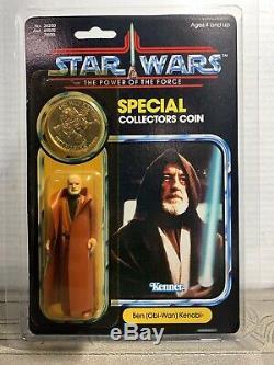 Vintage Kenner Star Wars 92 Back POTF Ben (Obi-Wan) Kenobi MOC AFA Worthy