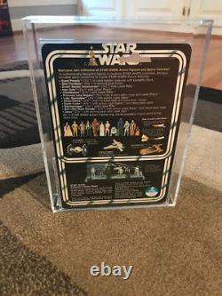 Vintage Kenner Star Wars AFA 80 Luke Skywalker 12 Back A Card
