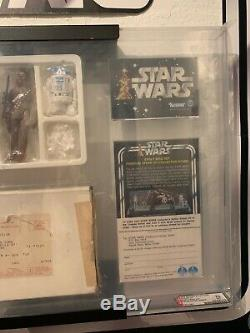 Vintage Kenner Star wars 1978 Early Bird Set AFA 70EX+ Double Telescopic Luke