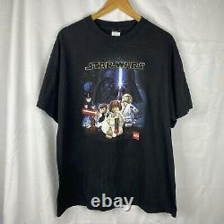 Vintage Lego Star Wars Video Game Promo T-Shirt XL PlayStation Ps2 2006