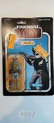 Vintage STAR WARS Kenner BOBA FETT MOC ROTJ 77 BACK taiwan 1983