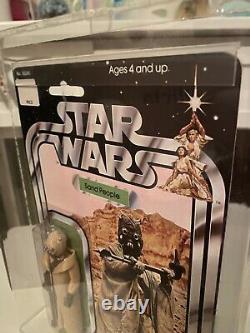 Vintage Star Wars 12 back AFA CAS UKG 85 Sand Person