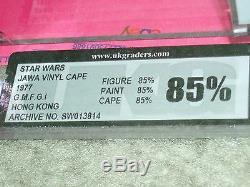 Vintage Star Wars 1977 UKG 85 RARE VINYL CAPE JAWA COA Loose Complete AFA
