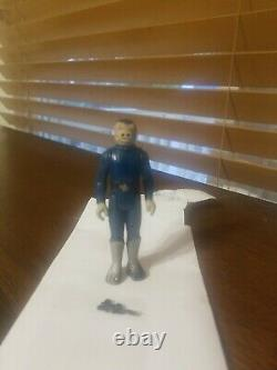 Vintage Star Wars 1978 Blue Snaggletooth Action Figure Original with weapon