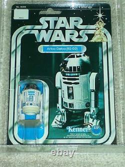 Vintage Star Wars 1978 KENNER AFA 80 R2-D2 ANH 12 Back-C Card MOC CLEAR BUBBLE