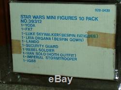 Vintage Star Wars 1980 AFA ESB DEPT. Store 10-PACK Yoda/Leia/Luke/Han/IG-88/Land