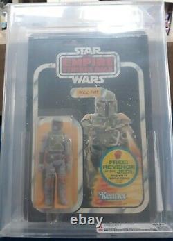 Vintage Star Wars 1982 Boba Fett Moc 47-c Back Graded Cas 60 (c60 B70 F80) Clear