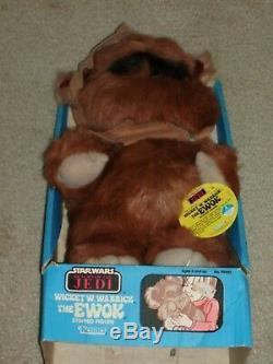 Vintage Star Wars 1983 Kenner Wicket Warrick Ewok Plush Stuffed ROTJ Boxed new