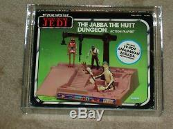 Vintage Star Wars 1984 AFA 80 JABBA the Hutt DUNGEON POTF EV-9D9 BARADA AMANAMAN