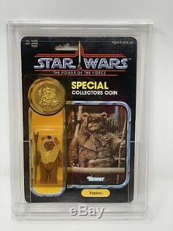Vintage Star Wars 1985 MOC PAPLOO Ewok POTF 92 back Kenner AFA Worthy