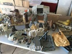 Vintage Star Wars Action Figure, Space Ships and Ewok Village Large Mixed Lot