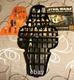 Vintage Star Wars Darth Vader 17 Figure Lot Case and weapons