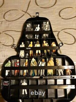 Vintage Star Wars Darth Vader 17 Figure Lot Case and weapons