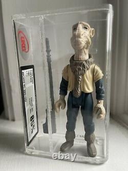 Vintage Star Wars Figure Yak Face New UKG85 RARE Last 17 Mint 85/85