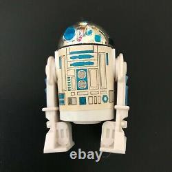 Vintage Star Wars Last 17 R2D2 Pop Up Saber w Coin and Unpunched Card Back POTF