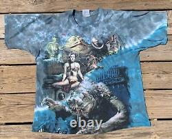 Vintage Star Wars Liquid Blue Jabbas Palace Shirt