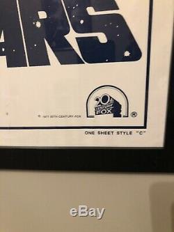 Vintage Star Wars Original Movie Poster 1977 PTW531 Lucasfilm Portal Framed