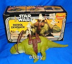 Vintage Star Wars Patrol Dewback in the Original Box Nice take a LOOK