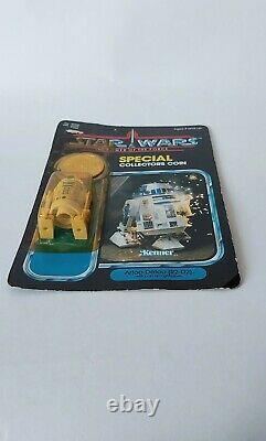 Vintage Star Wars Power Of The Force POTF R2-D2 Pop Up Lightsaber MOC Unpunched
