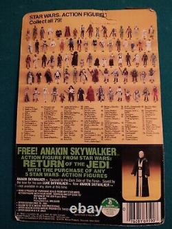 Vintage Star Wars Return Of The Jedi Yoda Figure With Brown Snake 79 Back RARE