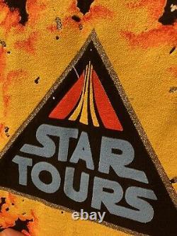Vintage Star Wars Shirt Disney All Over Star Tours Disneyland Single Stitch XL