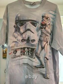 Vintage Star Wars Shirt Stormtrooper Sandtroopers Marvel Liquid Blue XL