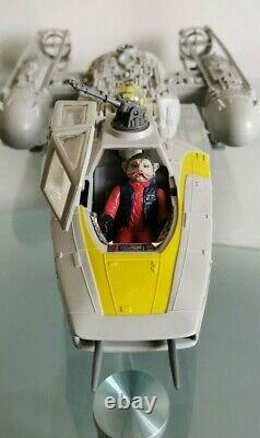 Vintage Star Wars Y-Wing Fighter Original 1983 & 2 FREE Figures Repro Bomb/Instr