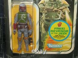 Vintage kenner star wars empire Boba Fett figureError Revenge cardcaseGEMmoc