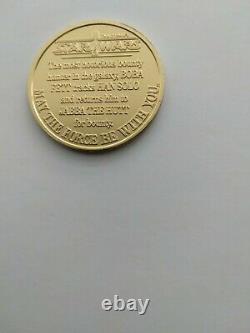 Vintage star wars Boba Fett droids coin mint condition