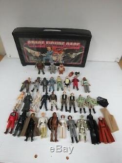 Vintage star wars large lot 1977 -1985 action figures Millenium Falcon Jaba 4057