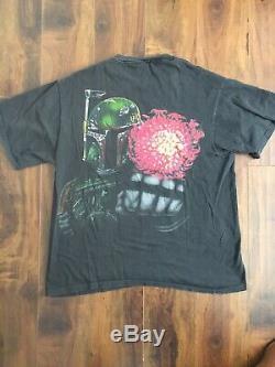 Vtg 90s Star Wars Boba Fett Shirt Sz XL Black 1990s Changes Tag