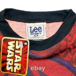 Vtg Rare Star Wars Episide 1 Darth Maul AllOver Print T Shirt. Mens XL